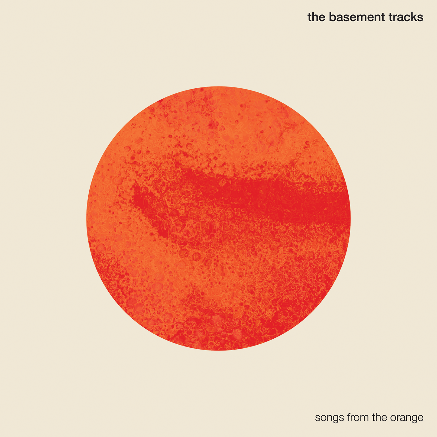 Cover developed for Basement Tracks' EP Songs From The Orange