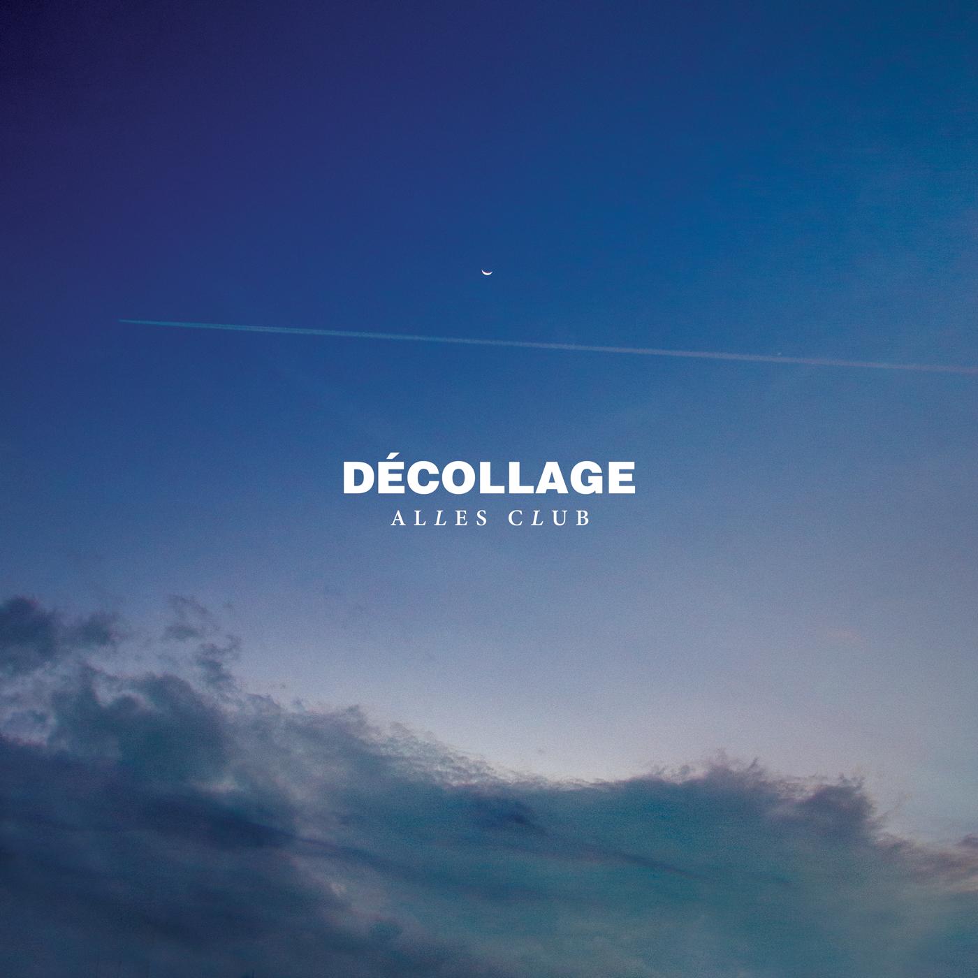 Cover developed for Alles Club's album Décollage